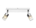 Dar Artemis Twin wall light Polished Chrome